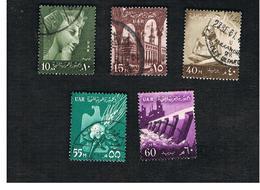 EGITTO (EGYPT) - SG 608.616  - 1959 NATIONAL SYMBOLS (INSCR. UAR)  - USED ° - Usati