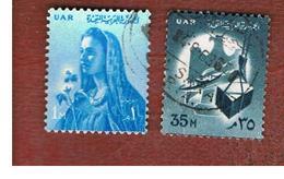 EGITTO (EGYPT) - SG 669.672  - 1961 NATIONAL SYMBOLS (INSCR. UAR)  - USED ° - Usati