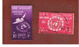 EGITTO (EGYPT) - SG 648.649  - 1960  O.N.U. (COMPLET SET OF 2)  - USED ° - Usati