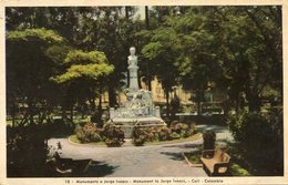 MONUMENTO A JORGE ISAACS - CALI, COLOMBIA. LA COLOMBIE POSTALE CPA NON CIRCULE CIRCA 1920's - LILHU - Colombia