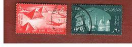 EGITTO (EGYPT) - SG 620.622  - 1959 AIRMAIL - USED ° - Usati
