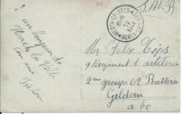 Fantasiekaart In Portvrijdom Naar Geldern - Afstempeling HERK-DE-STAD 1922 - Marcophilie