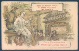 64 BAYONNE Hotel Du Panier Fleuri Vve MANAS Fine Champagne Marie Brizard & Roger - Bayonne