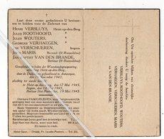OORLOG.. HEIST- OP- DEN- BERG/ ITEGEM/ BEERZEL / BERLAAR/ DOOR DE DUITSERS GEFUSILLEERD TE ANTWERPEN 1943 - Images Religieuses