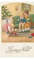 CARD EBNER  BUON NATALE ALBERO DI NATALE BIMBI GIOCATTOLI - FP-V IN BUSTA-2-  0882-29159 - Ebner, Pauli