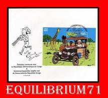 FDC (BL205) - NON EMIS/ NIET UITGEGEVEN - Tintin Au Congo / Kuifje In Congo - CONGO - Comics