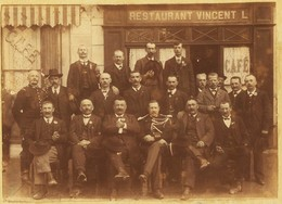 12387 -  CHAMBERY   VOGLANS ?   -  RESTAURANT   VINCENT -  Gros Plan  - Grande Photo J. Lançon  1900   ANNECY - Restaurants