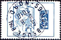 Oblitération Cachet à Date Sur Timbre De France N° 4975 - Marianne De Ciappa Et Kawena Datamatrix Europe - Used Stamps