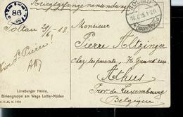 Carte D'Allemagne Du 10/07/18 Solteau  De Pierre Altzinger D'Athus - Prisonniers