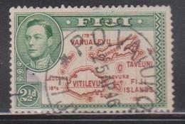 FIJI Scott # 134b Used - KGVI & Map - Fiji (...-1970)