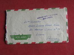 India Portuguesa Lettre Goa-Enviado De Charlie Pow Camp C. Vasco Da Gama  - Goa - Para Portugal 1962 - Lettres & Documents