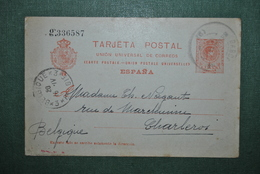 Espagne 1915? Carte Postale Espagne Vers Charleroi - Ganzsachen