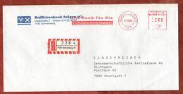 Einschreiben Reco, Absenderfreistempel, Raiffeisenbank Sulgen, 280 Pfg, Schramberg 1984 (77539) - BRD