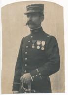 Photographie Ancienne Portrait D'un Lieutenant Colonel Spahis Médailles Alphonse De La Horie 56 Rohan Morbihan - Photographs