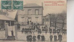 SAINT MAURICE  SUR AVEYRON   MAIRIE ET ECOLE DE GARCONS - Autres Communes