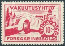 Finland 1940's Autopaketti LINJA-AUTO 10 Mk Private Bus Parcel & Freight Insurance Stamp Colis Paketmarke Frachtmarke - Bussen
