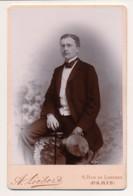 Photographie Ancienne Portrait D'un Jeune Homme Bourgeois Amédée THIERRY Photographe LIEBERT Paris - Photographs