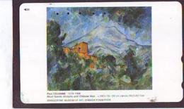 Télécarte Japon  * PEINTURE FRANCE * ART  (2259) PAUL CEZANNE * Japan * Phonecard * KUNST TELEFONKARTE - Painting