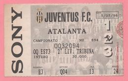 Biglietto D'ingresso Juventus F.C. Atalanta 1996 - Biglietti D'ingresso