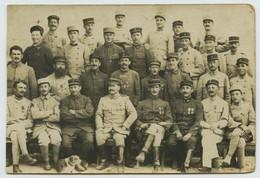 Carte Photo. Militaires. Militaria. Infanterie De Marine. Médailles. - War, Military