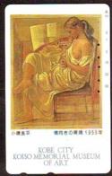 Télécarte Japon  * PEINTURE FRANCE * ART  (2261) EROTIQUE  FEMME  * Japan * Phonecard * KUNST TELEFONKARTE - Schilderijen