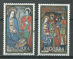 Andorre Espagnol YT N°111/112 Noel 1978 Neuf ** - Unused Stamps