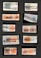 ANTICHI STATI ITALIANI - Lombardo Veneto - Milano R50/R53 + Rd - Dieci Frammenti Con Affrancature Del Periodo - Notata U - Stamps