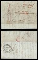 ANTICHI STATI ITALIANI - Lombardo Veneto - Milano 5 Gen. (1851) + Franco Frontiera + 6 Di Tassa - Lettera Per Lucca - Timbres