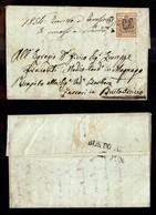 ANTICHI STATI ITALIANI - Lombardo Veneto - Breno (P.ti 4) - 30 Cent (8) Su Lettera Per Busto Arsizio Del 5.6.54 (260) - Timbres