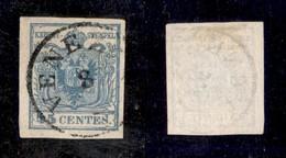ANTICHI STATI ITALIANI - Lombardo Veneto - 1852 - 45 Cent (11) - Parte Id Filigrana - Molto Bello - Timbres