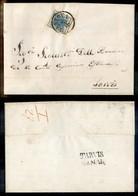 ANTICHI STATI ITALIANI - Lombardo Veneto - 45 Cent (17 - Carta A Coste) - Lettera Da Mantova A Tarvisio Del 7.5.54 - Timbres