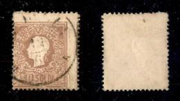 ANTICHI STATI ITALIANI - Lombardo Veneto - 1858 - 10 Soldi (26) - Dentellatura Molto Spostata Con Parte Del Vicino A Des - Timbres