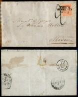 ANTICHI STATI ITALIANI - Lombardo Veneto - Ponte Di Brenta (P.ti 5) - 5 Soldi (30) Isolato Su Letterina Per Modena Del 1 - Stamps