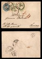 ANTICHI STATI ITALIANI - Lombardo Veneto - 10 Soldi (39) + Due 3 Soldi (37) - Bustina Da Venezia A Torino Del 10.3.64 (1 - Stamps