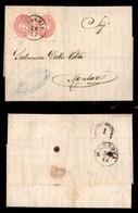 ANTICHI STATI ITALIANI - Lombardo Veneto - Due 5 Soldi (38) Applicati A Tete Beche Su Lettera Da Venezia A Mantova Del 2 - Timbres