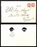 ANTICHI STATI ITALIANI - Lombardo Veneto - Thiene (P.ti 5) Su Due 5 Soldi (38) - Involucro Di Lettera Per Vicenza - Timbres