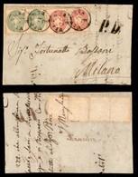 ANTICHI STATI ITALIANI - Lombardo Veneto - Bandiera - Coppia Del 3 Soldi (42) + Coppia Del 5 Soldi (43) - Frontespizio D - Stamps