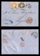 ANTICHI STATI ITALIANI - Lombardo Veneto - 15 Soldi (45) + 10 Soldi (44) - Lettera Da Udine A Lione Del 23.1.65 (1.350) - Timbres