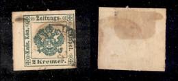 ANTICHI STATI ITALIANI - Lombardo Veneto - 1853 - 2 Kreuzer (1) Bordo Foglio A Sinistra - Molto Bello - Timbres