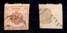 ANTICHI STATI ITALIANI - Lombardo Veneto - 1858 - 2 Kreuzer (3) - Parte Di Due Vicini Ai Lati (120+) - Stamps