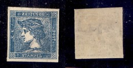 ANTICHI STATI ITALIANI - Lombardo Veneto - 1855 - Per Giornali - 3 Cent (3) - Gomma Originale Con Lieve Traccia Di Lingu - Stamps