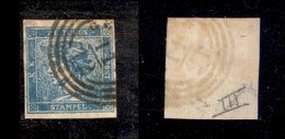 ANTICHI STATI ITALIANI - Lombardo Veneto - 1851 - 3 Cent (3 - Giornali) Usato A Genova - Cornice Rotta Sopra N (500+) - Timbres