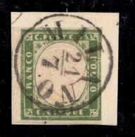 ANTICHI STATI ITALIANI - Lombardo Veneto - Provvisori - Milano 21.7. (59) - 5 Cent Sardegna (C1) Usato Su Frammento - Di - Timbres