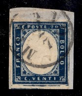 ANTICHI STATI ITALIANI - Lombardo Veneto - Provvisori 2.7. (59 - Secondo Giorno Del Governo Provvisorio) - 20 Cent Sarde - Stamps
