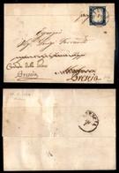 ANTICHI STATI ITALIANI - Lombardo Veneto - Provvisori - Milano 19.7.59 - 20 Cent Sardegna (C3) - Lettera Per Città Con I - Timbres