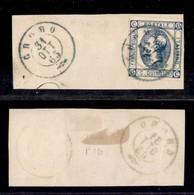 ANTICHI STATI ITALIANI - Lombardo Veneto - Gromo 31.10.63 (azzurro - P.ti 10) - 15 Cent (13 - Regno) Su Frammento - Timbres