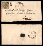 ANTICHI STATI ITALIANI - Modena - PD Di Massa Carrara (P.ti 5) Su 15 Cent (3) - Letterina Per Lucca - Stamps
