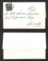 ANTICHI STATI ITALIANI - Modena - 5 Cent Oliva (8) Isolato Su Lettera Da Modena A Fiumalbo Del 4.8.56 (1.000) - Timbres