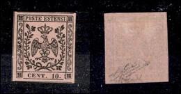 ANTICHI STATI ITALIANI - Modena - 1854 - 10 Cent (9) - Molto Bello - Diena + G. Bolaffi (800) - Stamps