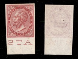 REGNO - 1866 - Prova D'Archivio - 40 Cent (P20) Bordo Foglio - Gomma Integra - Unclassified